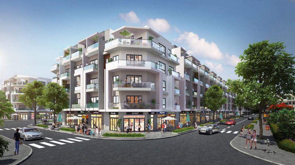 thiết kế shophouse hana garden city